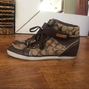 High top coach sneakers